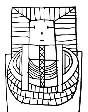 King Tut Coloring Page